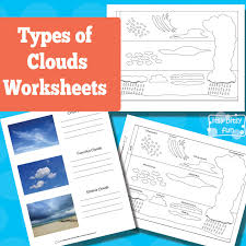 types of clouds worksheets itsy bitsy fun