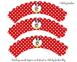 free mickey mouse cupcake wrapper printable digital goodies