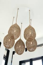 Woven Pendant Light In The Foyer Pendant Lights Woven From Material Resemble