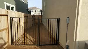 the side yard dog run area nice 5 u0027 wrought iron fencing yelp