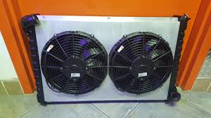 electric radiator fans and shrouds custom built copper brass radiator with aluminum shroud 2 high