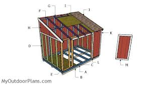 How To Build A Small Lean To Storage Shed by 8x12 Lean To Shed Plans Myoutdoorplans Free Woodworking Plans