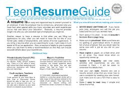 free resume templates for teens resume for teenagers virtren com resume templates for teenagers template sample