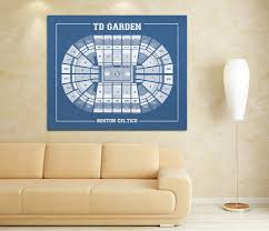 vintage print of td garden seating chart on premium photo luster