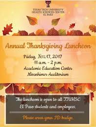 annual thanksgiving luncheon