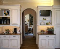repurposed tv cabinet kitchen traditional with quartzite