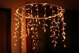 bedroom make an outdoor chandelier with icicle christmas lights
