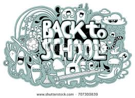 doodle with handdrawn school related doodle different stock vector