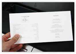 Printed Wedding Programs Insert Sheets Extra Paper To Print Program Details
