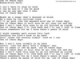 emmylou harris song one of these days lyrics
