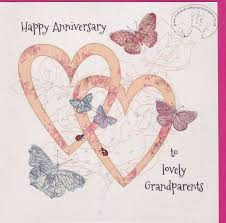 anniversary cards for handmade grandparents wedding anniversary card karenza paperie