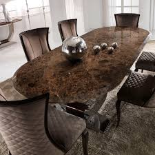 Luxury Marble Dining Table Luxury Italian Brown Marble Oval Dining Set Juliettes Interiors