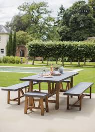 Cement Patio Table by Chilson Table And Bench Set Large Cement Fibre Garden Trading