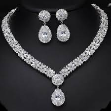 white crystal necklace images Pera luxurious bridal wedding gift jewelry set blue and white jpg