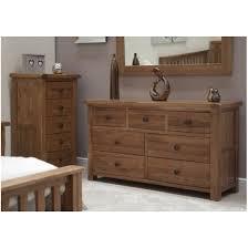 Bedroom Sideboard Warwick Solid Oak Bedroom Furniture Large Wide Multi Chest Of