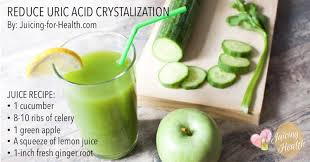 reduce uric acid crystalization with this juice to stop gout