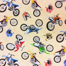 bike motocross dirt bike motocross motorcycle cotton quilt fabric nt21