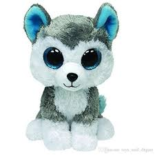 ty beanie boos slush dog kawaii stuffed husky dogs doll toys cute