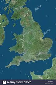 Map Of England And Wales Satellite View Of England And Wales Uk With Country Boundaries