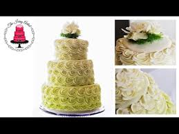 wedding cake icing three tier rosette wedding cake how to with the icing artist