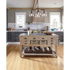 kosas home deni washed grey blue and reclaimed pine kitchen