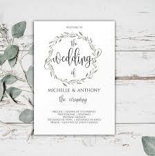 template for wedding ceremony program wedding ceremony program templates wedding weddings invitation