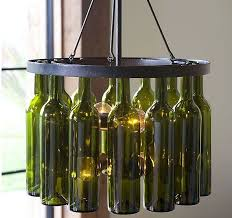 Wine Bottle Chandeliers How To Make A Wine Bottle Chandelier Intended For Popular