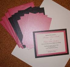 print your own wedding invitations make how to print your own wedding invitations pink black