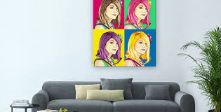 custom pop art portraits by poparta classic pop art on canvas