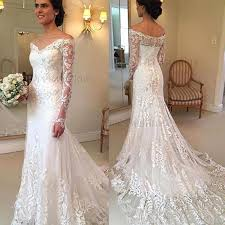 mermaid wedding dress glamorous mermaid wedding dress the shoulder tulle