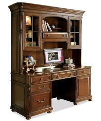 Home Computer Desks With Hutch Large Office Computer Desk And Hutch By Riverside Furniture Wolf