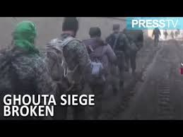 siege army syrian army breaks terrorists siege in eastern ghouta