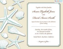 Invitation Wordings For Marriage Beach Wedding Invitations Lovetoknow