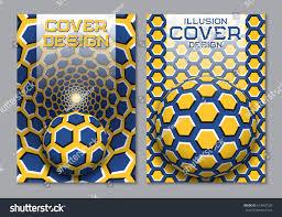 blue yellow color scheme book cover stock vector 673407520