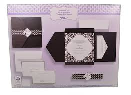 invitation kits set of 25 wilton wedding black and white vintage