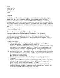 Resume Objective Marketing Marketing Marketing Project Manager Resume