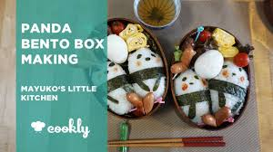 panda bento box making at mayuko u0027s little kitchen in tokyo youtube
