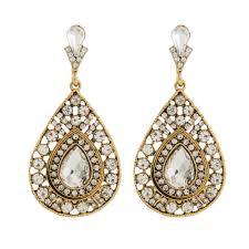 diamond earrings designs designer diamond earrings vs10053 antique jewellery temple