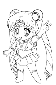 chibi coloring pages sailor moon coloringstar