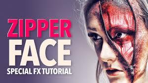zip mask halloween zipper face zombie halloween makeup tutorial youtube