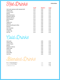 menu publisher template sle drink menu template