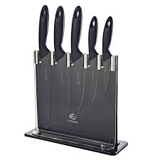 black kitchen knives viners viners silhouette stainless steel kitchen knife block set