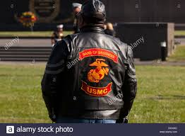motorcycle riding vest leather band of brothers usmc motorcycle riding club insignia on jacket