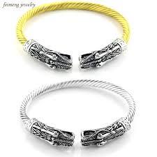 men cuff bracelet images Double wolf head male bracelet indian jewelry vintage accessories jpg