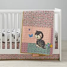 Land Of Nod Girls Bedding by Shy Little Kitten Crib Bedding The Land Of Nod