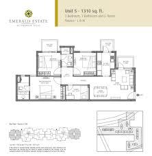 Parc Imperial Floor Plan by Floor Plans Of Emaar Mgf Emerald Estate Gurgaon Apartments