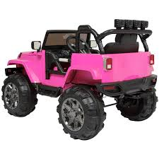 jeep christmas electric cars for kids to ride girls pink jeep battery powered
