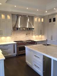 White Paint Kitchen Cabinets by Kitchen Stainless Steel Vent Hoods And White Paint Kitchen