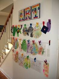 hanging kids artwork the simplest way to display your kids art display kids artwork