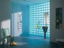 Block Wall Ideas by Blue Bathroom Tile Ideas Glass Interior Wall Designs Glass Block
